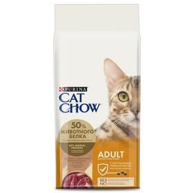 Сухой корм CAT CHOW для кошек, утка, 15 кг