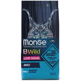 Сухой корм Monge BWild Cat Anchovies для кошек, анчоус, 1.5 кг
