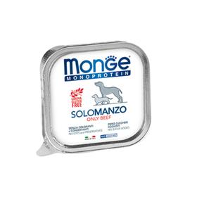 Влажный корм Monge Dog Monoprotein Solo для собак, паштет из говядины, ламистер, 150 г