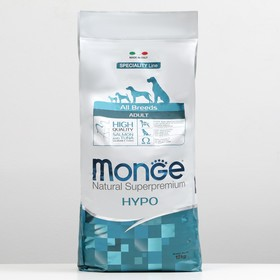 Сухой корм Monge Dog Speciality Hypoallergenic для собак, лосось/тунец, 12 кг