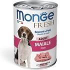 Влажный корм Monge Dog Fresh Chunks in Loaf для собак, рулет из свинины, 400 г