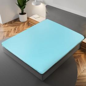 Простыня «Этель» 150×215 см, цвет голубой, 100% хлопок, мако-сатин, 125 г/м²