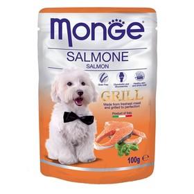 Влажный корм Monge Dog Grill Pouch для собак, лосось, 100 г Ош