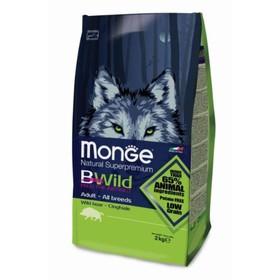 Сухой корм Monge Bwild Dog Boar для собак всех пород, с мясом дикого кабана 2 кг