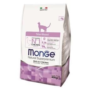 Сухой корм Monge Cat Sterilised для стерилизованных кошек, 400 г