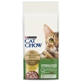 Сухой корм CAT CHOW для стерилизованных кошек, домашняя птица, 15 кг