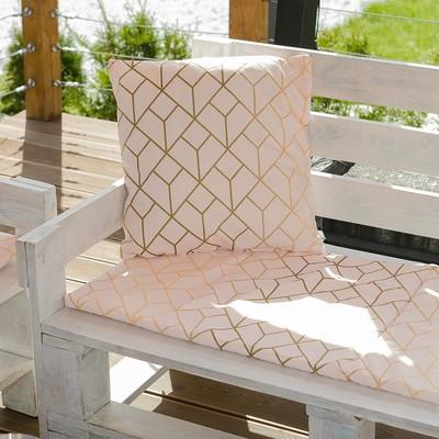 Декоративная подушка уличная «Этель» Сетка, 45×45 см, репс с пропиткой ВМГО, 100% хлопок