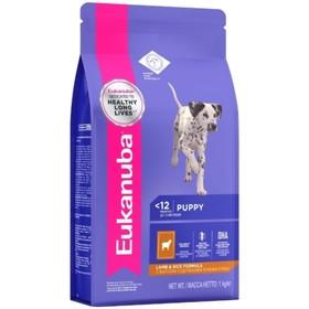 Сухой корм EUK Dog для щенков всех пород, ягненок, 1 кг