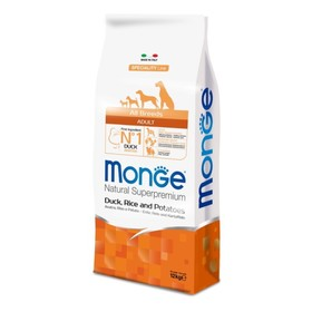 Сухой корм Monge Dog Speciality для собак всех пород, утка/рис/картофель, 12 кг