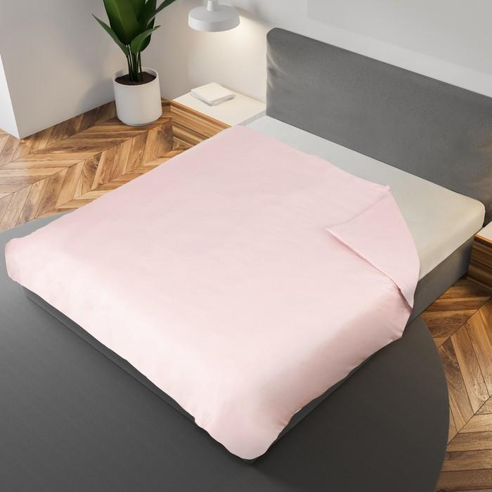 Пододеяльник «Этель» 200×220 см, цвет пудровый, 100% хлопок, мако-сатин, 125 г/м²