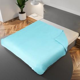 Пододеяльник «Этель» 145×210 см, цвет голубой, 100% хлопок, мако-сатин, 125 г/м²
