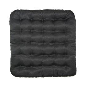 Подушка на стул Уют черный 40х40см лузга  гречихи, грета хл35%, пэ65%