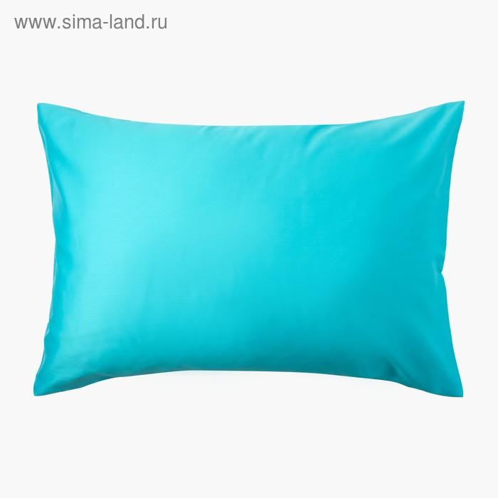 Наволочка «Этель» 50×70 см, цвет голубой, 100% хлопок, мако-сатин, 125 г/м²
