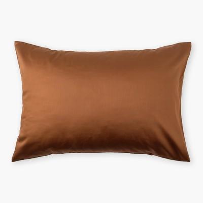 Наволочка «Этель» 50×70 см, цвет коричневый, 100% хлопок, мако-сатин, 125 г/м²