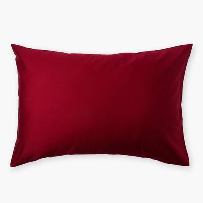 Наволочка «Этель» 50×70 см, цвет бордовый, 100% хлопок, мако-сатин, 125 г/м²