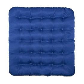 Подушка на стул Уют синий 40х40см лузга  гречихи, грета хл35%, пэ65%