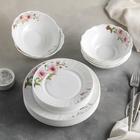 """Сервиз столовый """"Цветочная мелодия"""", 18 предметов: 6 тарелок 17,5 см / 23 см / 15х5 см"""
