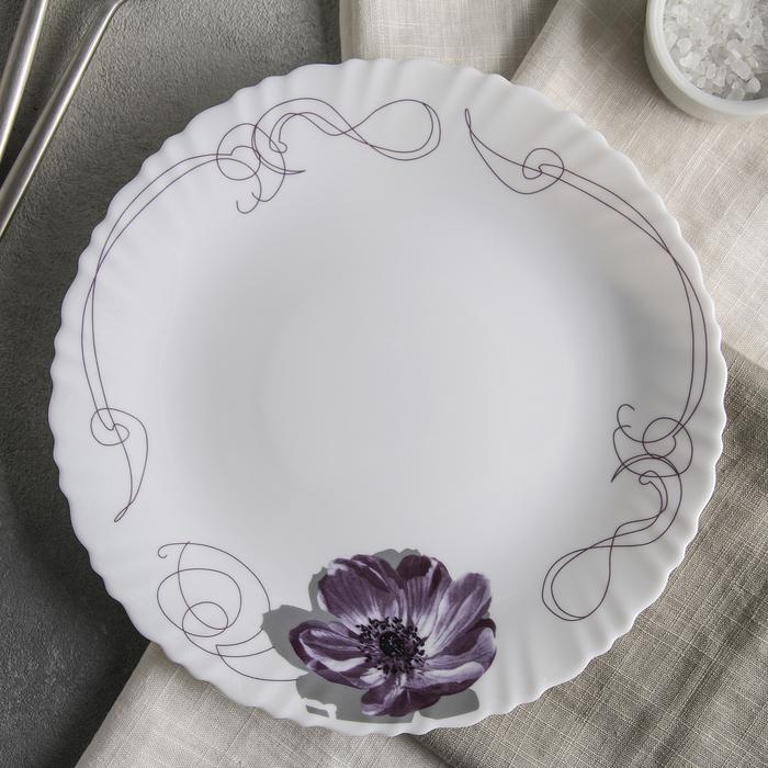 Тарелка обеденная Доляна «Сиреневое блаженство», d=23 см - фото 658835
