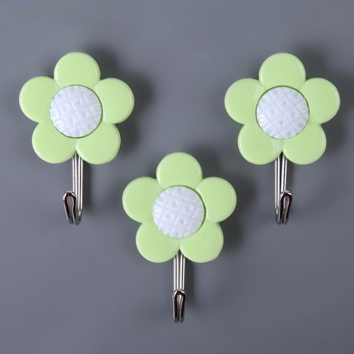 "A set of hooks on the Velcro ""Flowers"", 3 PCs, MIX color"