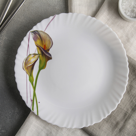 Тарелка обеденная «Дивные каллы», d=23 см