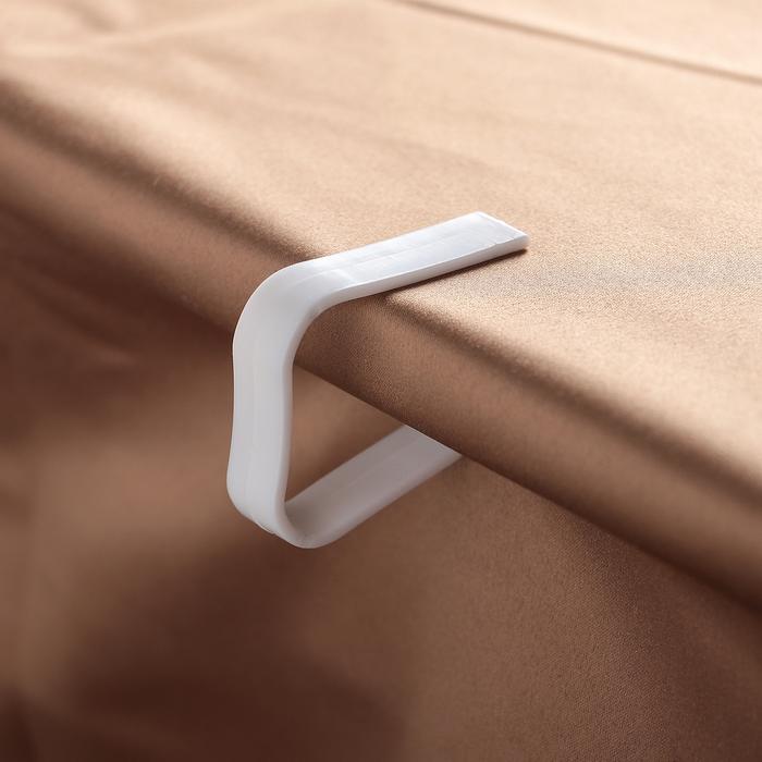 Набор зажимов для скатерти «Калипсо», 4 шт, цвет белый