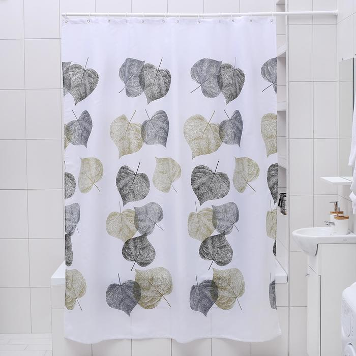 """Штора для ванной 180×200 см """"Осень"""", полиэстер"""