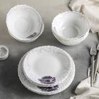 "Сервиз столовый ""Сиреневое блаженство"", 18 предметов: 6 тарелок 17,5 см / 23 см / 15х5 см"