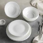 "Сервиз столовый ""Дива"", 18 предметов: 6 тарелок 17,5 см / 23 см / 15х5 см"
