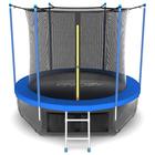 Батут с внутренней сеткой и лестницей EVO JUMP Internal 6ft SKY, 183 см, синий