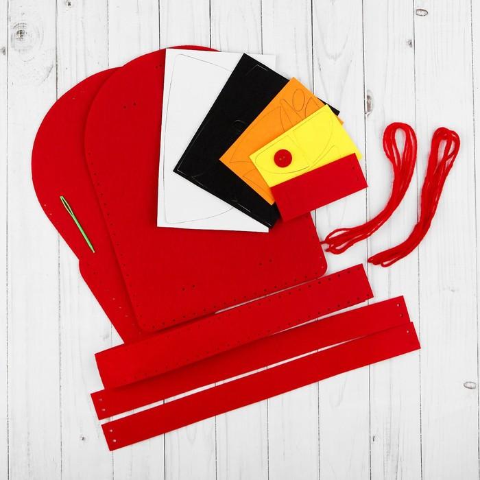 Набор для создания рюкзака из фетра «Тачка» - фото 691480