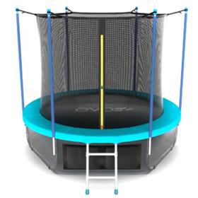 Батут EVO JUMP Internal 6 ft, d=183 см, с внутренней сеткой, нижней сеткой и лестницей, морская волна