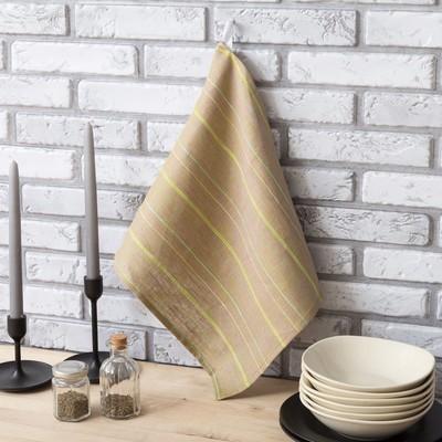 Полотенце Этель «Полин», 34 × 65 см, с петелькой, полулён, 50 % хлопок, 50 % лён