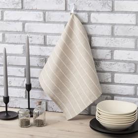 "Towel Ethel ""Leonie"" 34×65 cm with a loop Paulin, 50% cotton, 50% linen"