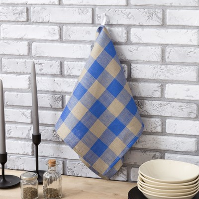 Полотенце Этель «Феличе» 34×65 см с петелькой полулён, 50% хлопок, 50% лён