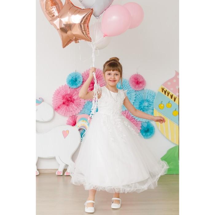 Платье нарядное для девочки MINAKU «Тиана», рост 116 см, цвет белый