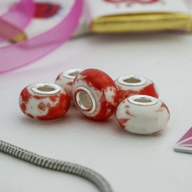 """Bead """"Sketch"""", color white-red"""
