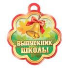 """Медаль """"Выпускник школы"""" колокольчик"""