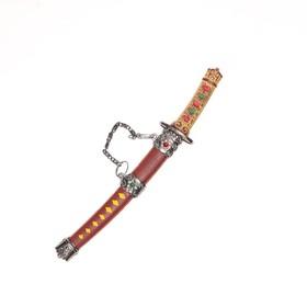 Сувенирное оружие «Катана на подставке», ромбы на рукоятке, 17см Ош