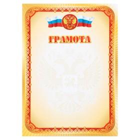 """Грамота """"Универсальная"""" узор, символика РФ"""