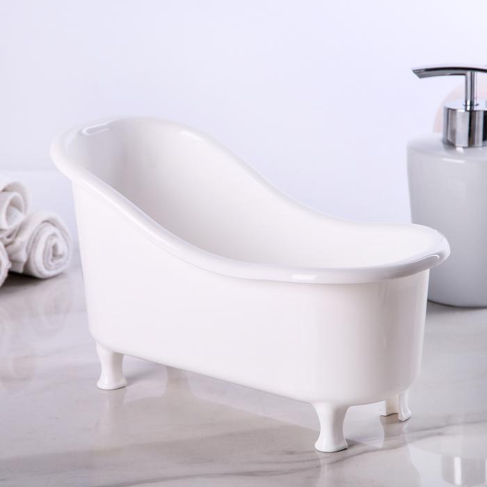 """Подставка универсальная """"Ванночка"""", цвет белый"""