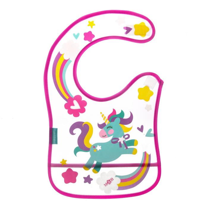 Нагрудник непромокаемый «Доченька», с карманом, на липучке, цвет МИКС - фото 76746093