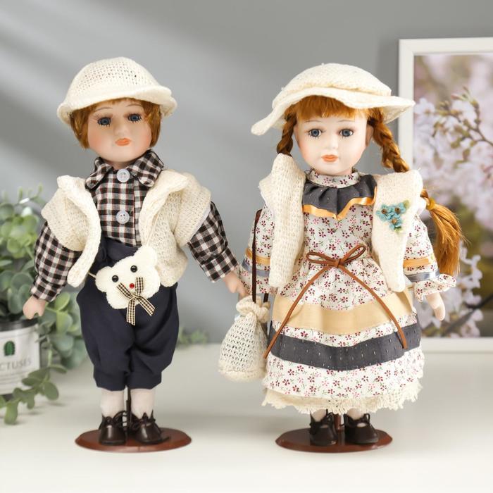 """Кукла коллекционная парочка набор 2 шт """"Ляля и Виталя"""" 30 см"""