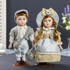"""Кукла коллекционная парочка набор 2 шт """"Катя и Никита"""" 30 см"""