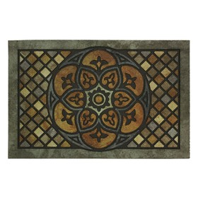 Коврик придверный Wood Medallion, 58,5х89 см