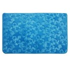 Коврик в ванную комнату Fresh, 50х80 см, рисунок звезды, цвет голубой