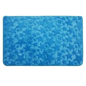 Коврик в ванную комнату Fresh «Звёзды», 50 х 80 см, цвет голубой