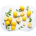 Разделочный мат 30х40 см, полипропилен, рисунок лимоны