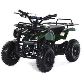 Квадроцикл детский бензиновый MOTAX ATV Mini Grizlik Х-16 Big Wheel (большие колеса), электростартер, пульт родительского контроля, зеленый камуфляж