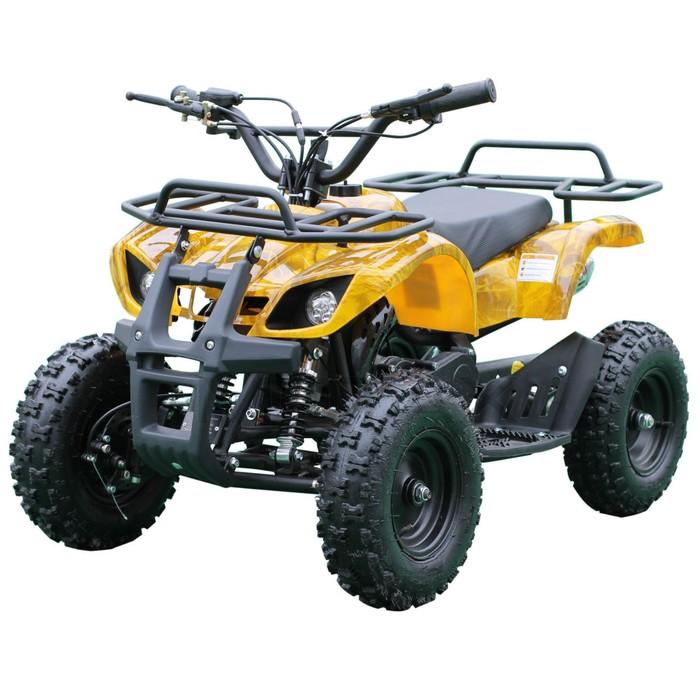 Квадроцикл детский бензиновый MOTAX ATV Mini Grizlik Х-16 Big Wheel (большие колеса), электростартер, пульт родительского контроля, жёлтый камуфляж