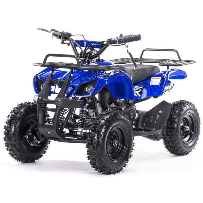 Квадроцикл детский бензиновый MOTAX ATV Mini Grizlik Х-16 Big Wheel (большие колеса), электростартер, пульт родительского контроля, синий